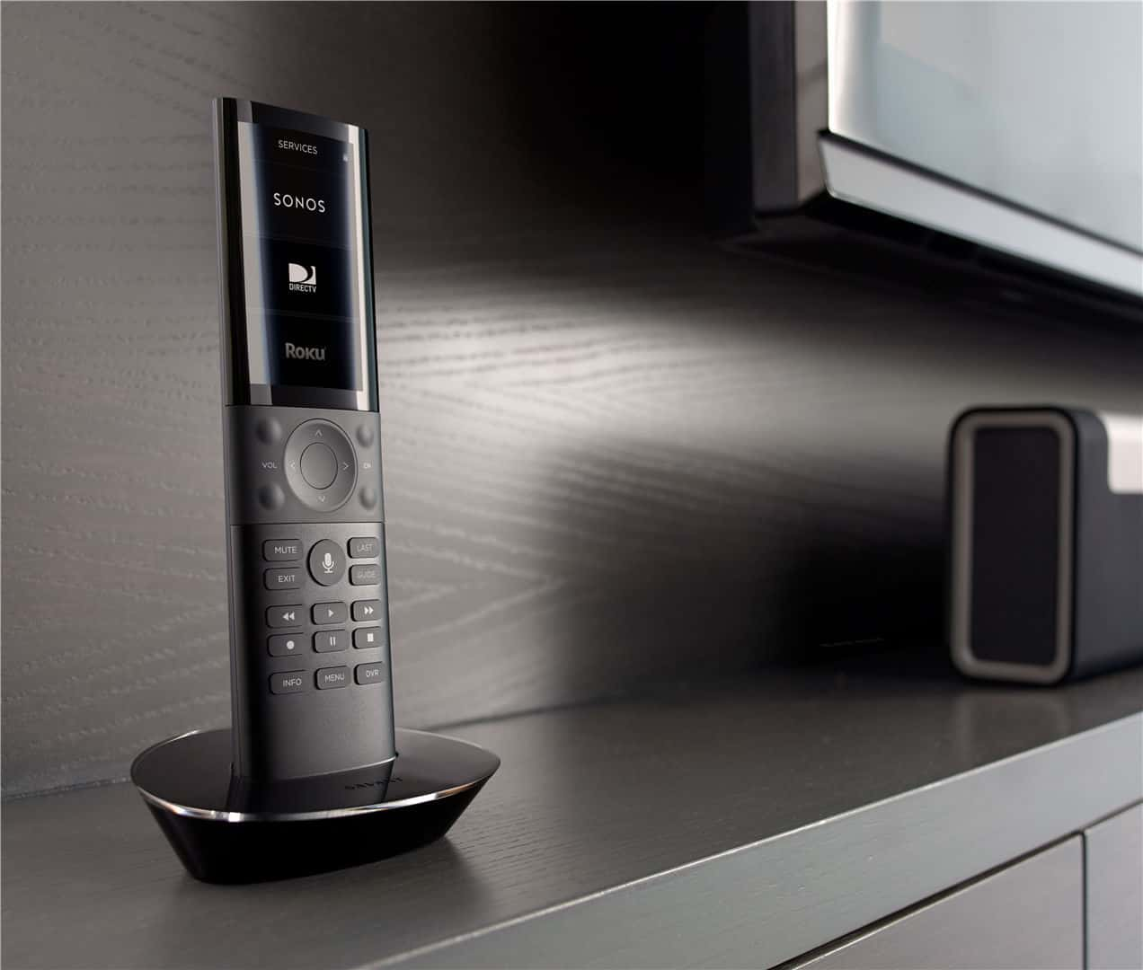 Savant Remote and Sonos Speaker