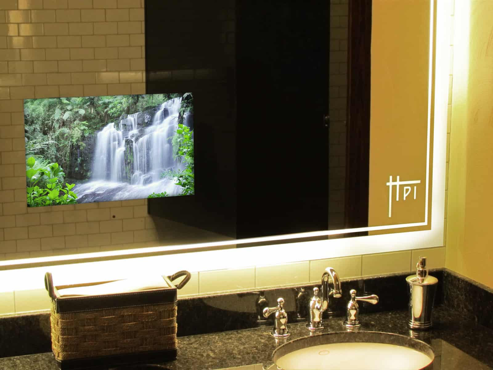 mirror tv for bathroom tv when you want it decor when you need it domes av 19500