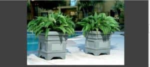 Outdoor planter speakers